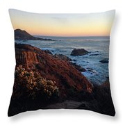 Golden Hour On Garrapata Throw Pillow