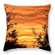 Golden Hour Sunset Throw Pillow