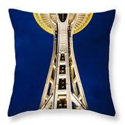 Golden Hour Tower Throw Pillow