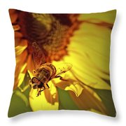 Golden Hoverfly 2 Throw Pillow