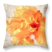 Golden Iris 2 Throw Pillow