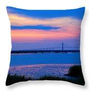 Golden Isles Bridge Throw Pillow
