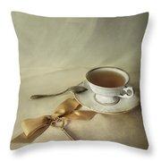 Golden Key Throw Pillow