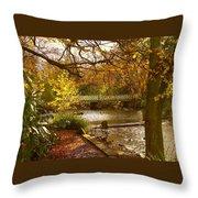 Golden Lake At Botanical Gardens Throw Pillow