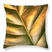 Golden Leaf 2 Throw Pillow