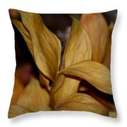 Golden Leafed Abstract 2013 Throw Pillow