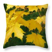 Golden Leaves Floating Throw Pillow