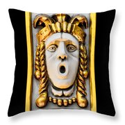 Golden Mask II Throw Pillow