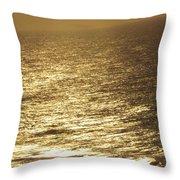 Golden Moonlight Or Moon Surface Throw Pillow