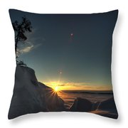 Golden Morning Breaks Throw Pillow