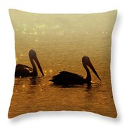 Golden Morning Throw Pillow by Mike  Dawson