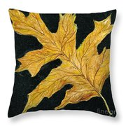 Golden Oak Leaf Throw Pillow