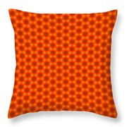 Golden Orange Honeycomb Hexagon Pattern Throw Pillow