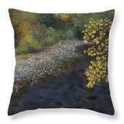 Golden Overhang Throw Pillow