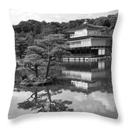 Golden Pagoda In Kyoto Japan Throw Pillow by David Smith