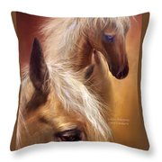 Golden Palomino Throw Pillow