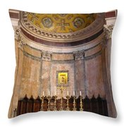 Golden Pantheon Altar Throw Pillow