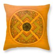 Golden Pattern 1 Throw Pillow