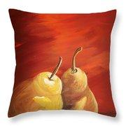 Golden Pear's Throw Pillow
