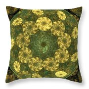 Golden Pebbles Throw Pillow