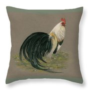 Golden Phoenix Rooster Throw Pillow