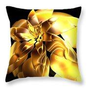 Golden Pineapple By Jammer Throw Pillow