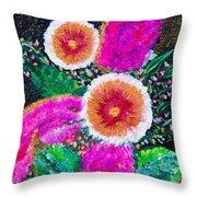 Golden-pink Throw Pillow