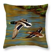 Golden Pond Throw Pillow by Crista Forest