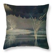 Golden Pond Lily Throw Pillow by Bedros Awak