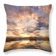 Golden Ponds Scenic Sunset Reflections 3 Throw Pillow