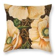 Golden Poppies Throw Pillow