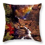 Golden Rainbow Throw Pillow