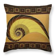 Golden Ratio Spiral Throw Pillow