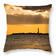 Golden Rays At Cape May Throw Pillow