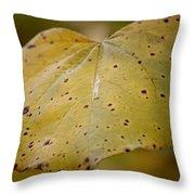 Golden Redbud Heart Throw Pillow