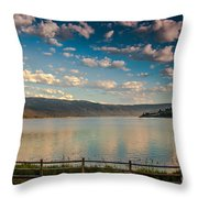Golden Reflection On Lake Cascade Throw Pillow by Robert Bales