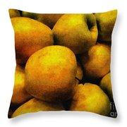 Golden Renaissance Apples Throw Pillow
