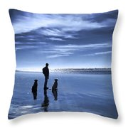 Golden Retriever Dogs End Of The Day Throw Pillow