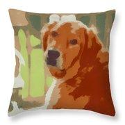 Golden Retriever Profile Throw Pillow