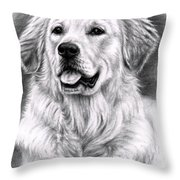 Golden Retriever Spence Throw Pillow