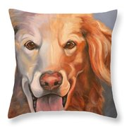 Golden Retriever Till There Was You Throw Pillow