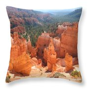 Golden Rocks Of Bryce Canyon  Throw Pillow