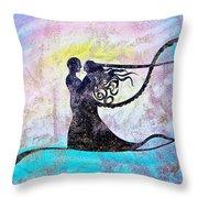 Golden Romance Throw Pillow