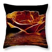 Golden Rose Throw Pillow