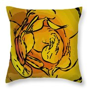 Golden Rose In Style Throw Pillow