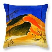 Golden Sand Dune_triptych Throw Pillow