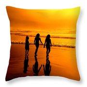 Golden Sands  Throw Pillow