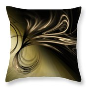 Golden Scroll Throw Pillow