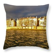 Golden Seine Throw Pillow