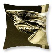 Golden Shark In Ocean City Throw Pillow